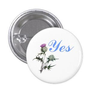 Flower of Scotland Yes Thistle Flower Pinback Pinback Button
