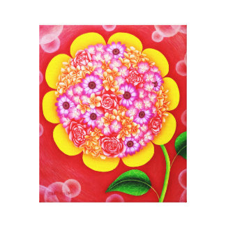 Flower of sun canvas print
