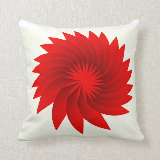 Flower of the Blood Moon Throw Pillow
