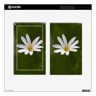 Flower of the  greater stitchwort decal for kindle fire