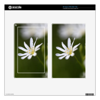 Flower of the  greater stitchwort kindle fire skin