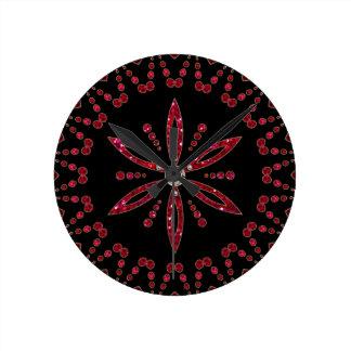 Flower of the life - Aphrodite amulet Round Wallclocks