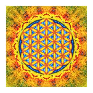 Flower of the life - autumn sun canvas print