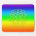 Flower of the life chakra 2 mouse pad