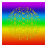 Flower of the life chakra 2 poster