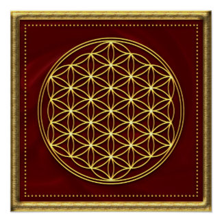 Flower of the life - Flower OF life - gold Poster