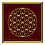 Flower of the life - Flower OF life - gold Posters