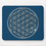 Flower of the life/Flower OF Life | more silver bl Mousepad
