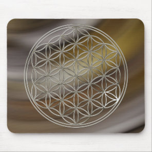 Flower of the life/Flower OF Life | more silver Mouse Pad