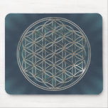 Flower of the life/Flower OF Life | more silver ra Mouse Pad