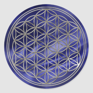 Flower of the life/Flower OF Life | more silver ro Classic Round Sticker