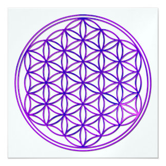 Flower of the life/Flower OF Life | pink blue Card