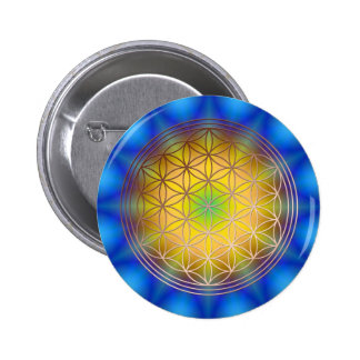 Flower of the life motive 10 button