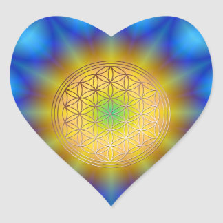 Flower of the life motive 10 stickers