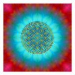 Flower of the life motive 11 posters