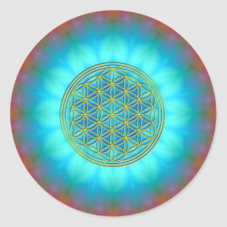 Flower of the life motive 11 round stickers