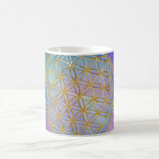 Flower of the life classic white coffee mug