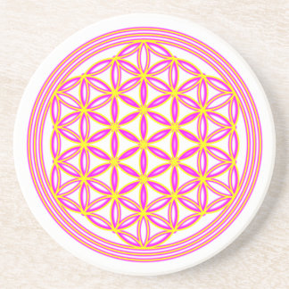 Flower of the life radiating coaster