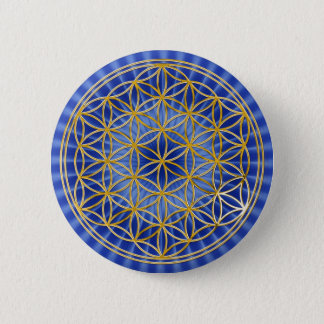 Flower of the life | small blue radially BG Button