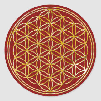 Flower of the life | small dark talk splatter BG Classic Round Sticker