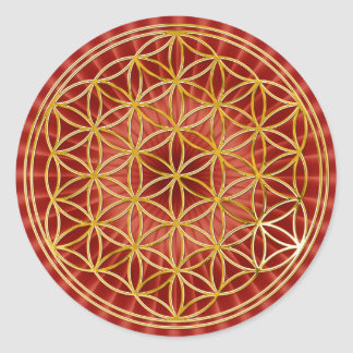 Flower of the life | small talk radially BG Classic Round Sticker