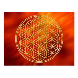 Flower of the life | small talk waves postcard
