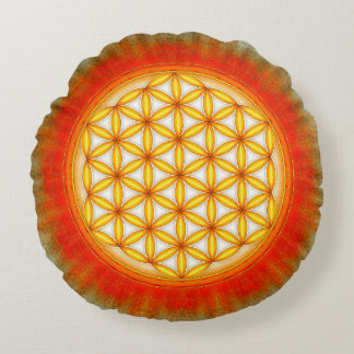 Flower of the life - sun II Round Pillow