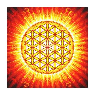 Flower of the life - sun III Canvas Print