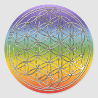 Flower of the life/the Flower OF Life | more silve Classic Round Sticker