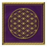 Flower of the life - violet/gold print