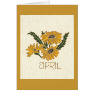 FLOWER OF THE MONTH APRIL GREETING CARD