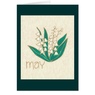 FLOWER OF THE MONTH - MAY CARD