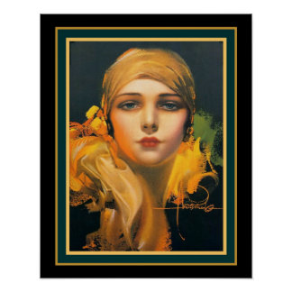 """Flower of the Orient"" Deco- Rolf Armstrong 16x20 Poster"