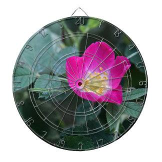 Flower of the wild Soft Downy Rose Dartboard With Darts