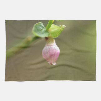 Flower on a European Blueberry bush Hand Towel