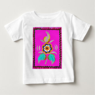 Flower on a pink background baby T-Shirt