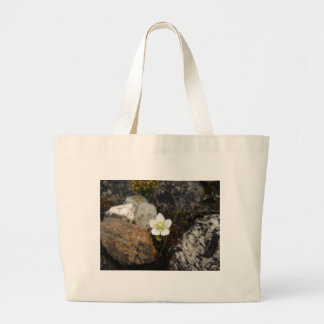 Flower on a Rocky Beach Large Tote Bag