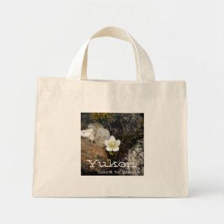 Flower on a Rocky Beach; Yukon Territory Souvenir Mini Tote Bag