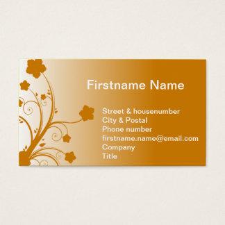 Flower on a warm orange sunny sunset sunrise business card