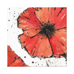 Flower on a White Background Canvas Print