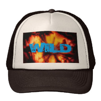 FLOWER ON FIRE AT NIGHT TRUCKER HAT