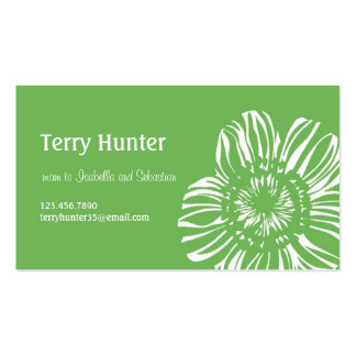 Flower on Green Background Business Card