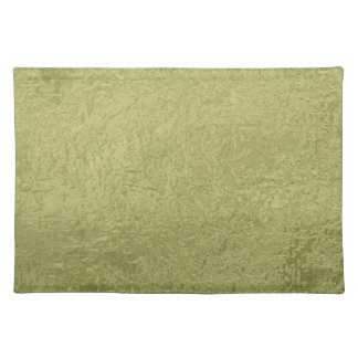 Flower on Stars n Pearls - Satin Silk Green Base Cloth Placemat