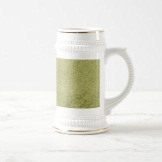 Flower on Stars n Pearls - Satin Silk Green Base Mugs