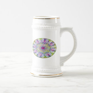 Flower on Stars n Pearls - Satin Silk Green Base Mug