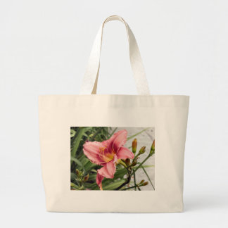 Flower on the Sidewalk Large Tote Bag