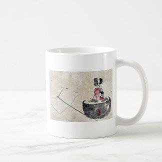 Flower or vegetable in a flowerpot Ukiyoe Classic White Coffee Mug