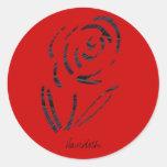 Flower Orange Logo Round Sticker