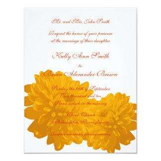 Flower (Orange) Small Rectangular Invitation