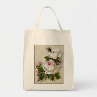 Flower Organic Grocery Tote Grocery Tote Bag